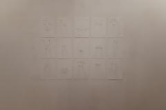 """3. Barbara Baroncini, """"Autoritratti"""", 2018, inchiostro su carta, 22x33 cm, ciascuno."""