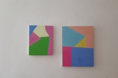 "7. Nicola Melinelli, ""Olio su tela"", 2013, 3x(22x29 cm), 2x(29x38 cm)."