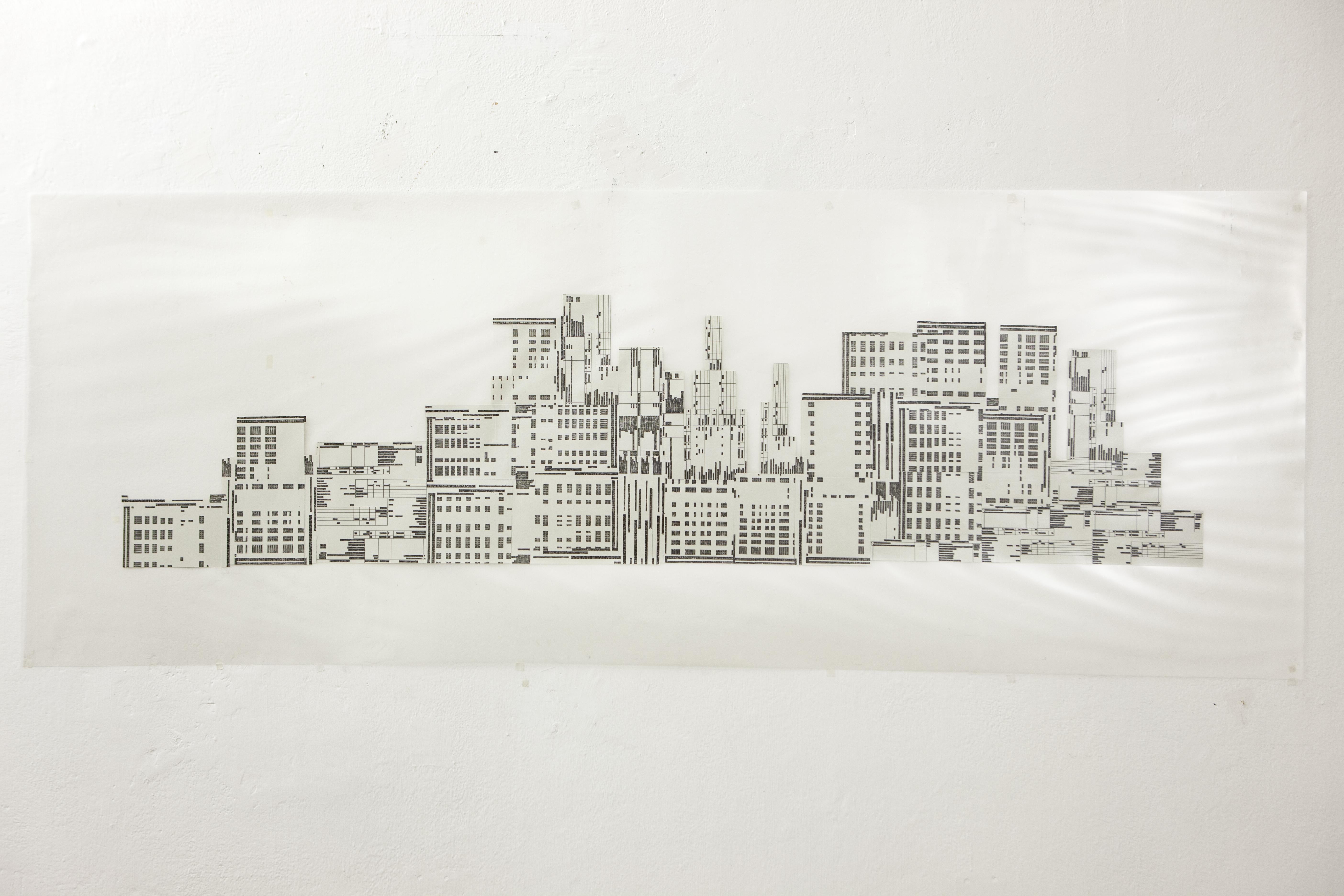 SKYTIME 2019 Fogli A4 di carta riciclata da ufficio stampati, penna a inchiostro, foglio di acetato e film di plastificazione cm 74 x 198